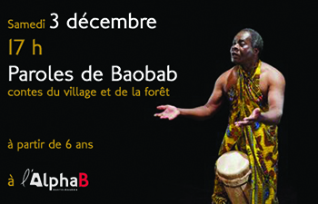Paroles de baobab a l AlphaB mediatheque de Castelmaurou 3 dec 2016