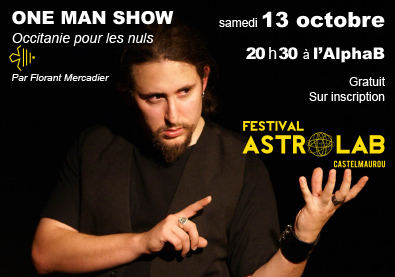 Samedi 13 octobre 2018 spectacle occitan One man show a Castelmaurou - mediatheque l alphab