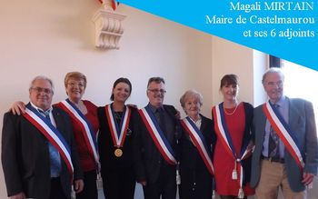 Magali Mirtain Maire et ses 6 adjoints